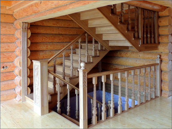 Лестница из дуба в Богданихе