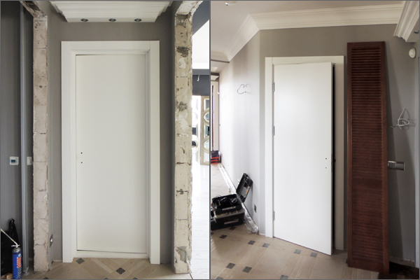 Белые двери из МДФ в Минске
