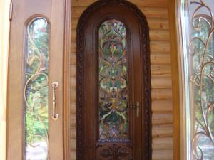 Арочные двери из массива