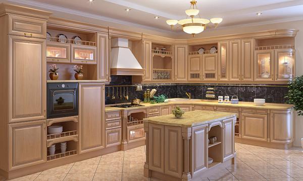 Кухня из массива белый цвет