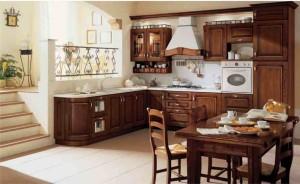 Кухня цвет орех