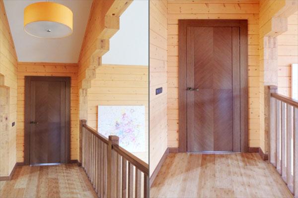 Двери, шпон ореха. Дом в Троицке