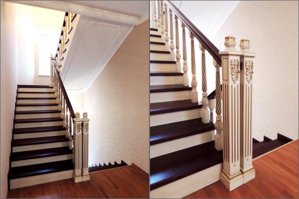 узнать, лестница на второй этаж римские колонны ЮИТ ДОМ
